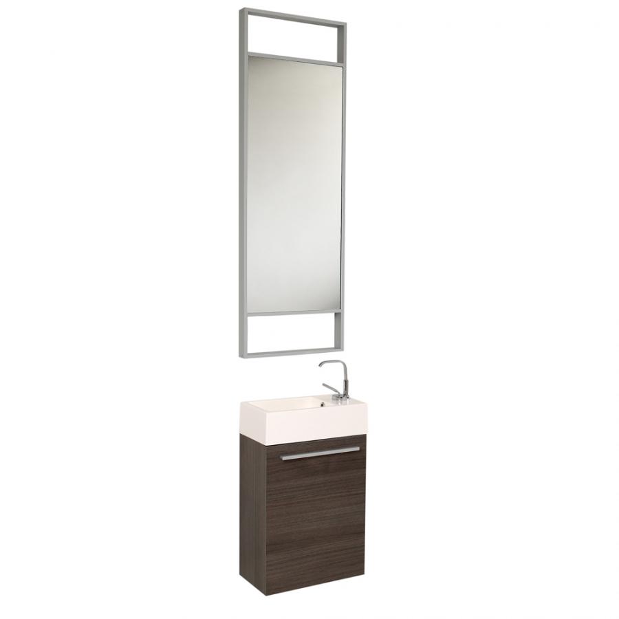 15 5 inch small gray modern wall mount bathroom vanity set on sale