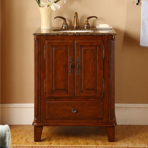 28 inch single sink bathroom vanity with granite counter top uvsr020728