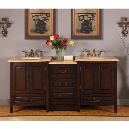 73 5 Inch Double Sink Vanity With Under Counter Led Lighting