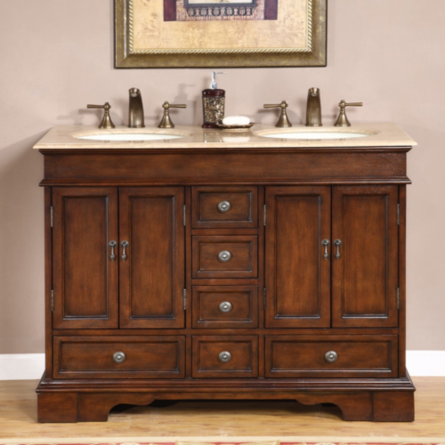 48 inch antiqued small double sink vanity custom options