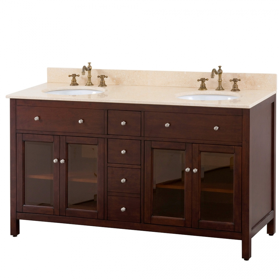 60 Inch Double Bathroom Vanity With Choice Of Top