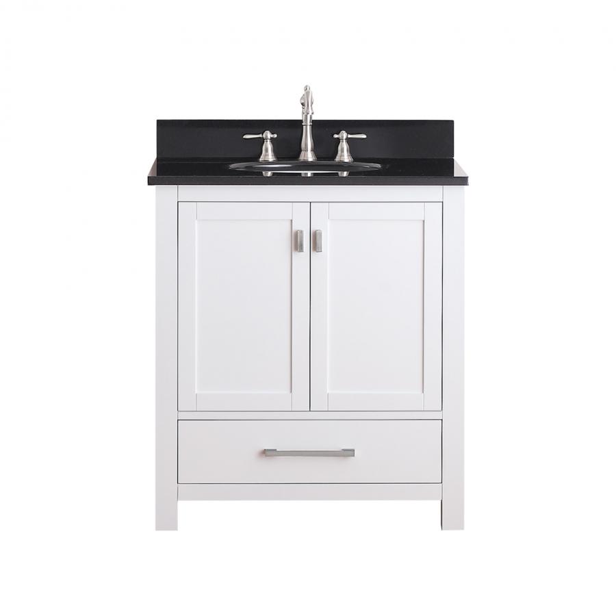 30 Inch Single Sink Bathroom Vanity With Soft Close Hinges UVACMODEROV30WT30