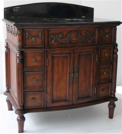40 Inch Antique Style Single Sink Vanity Cabinet UVCD01240