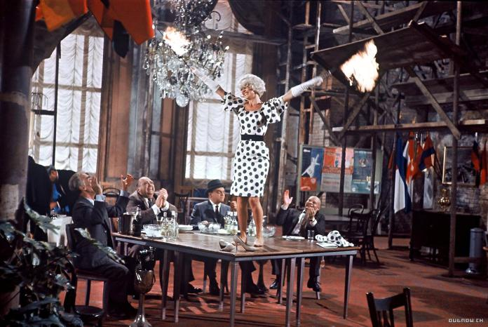 "This time she didn't dance on the table, but she was still in a good mood: Honorary award winner Lilo Pulver in ""One, Two, Three"" (1961) by Billy Wilder."
