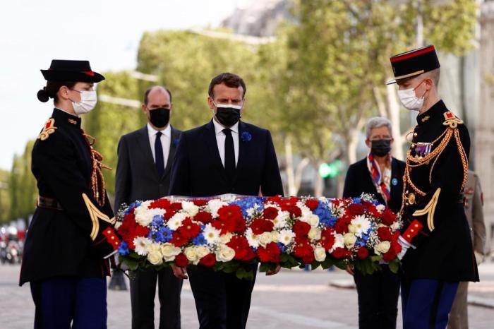 Sieg gegen Nazi-Deutschland: Macron erinnert am Triumphbogen an Weltkriegsende