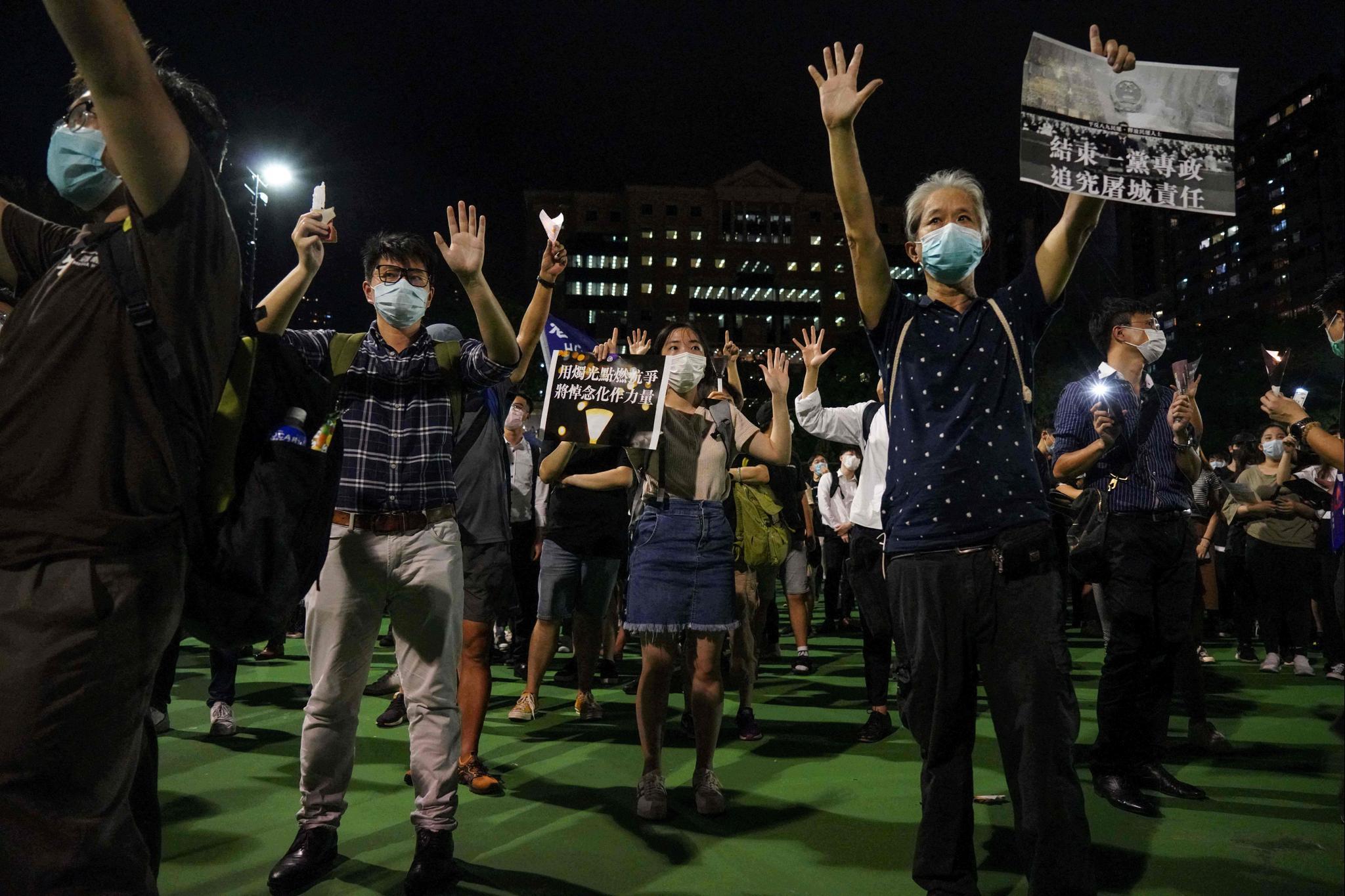 Les manifestants s'étaient tout de même rassemblés.