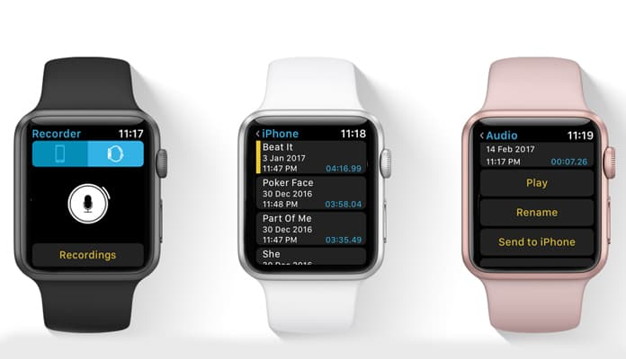 voice recording apps for apple watch