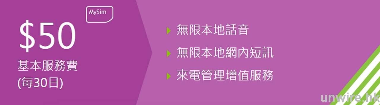 MySim:無合約 數據無限期^ - 香港 unwire.hk