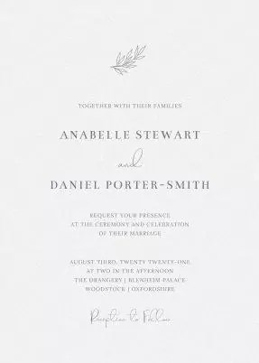 classic wedding invitations design