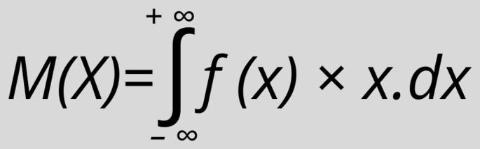 Математическое ожидание непрерывной случайной величины рассчитать формула: M(X) = -∞+∞f(x) × x.dx