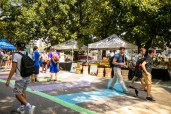 Vanderbilt celebrates PARK(ing) Day in front of the Law School along 21st Avenue South.