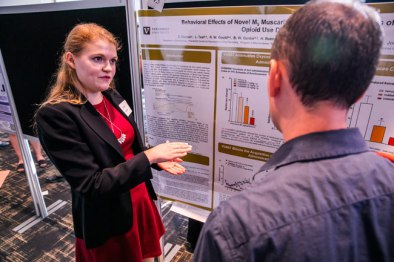 The sixth annual Undergraduate Research Fair, held Sept. 19, 2019, at the Student Life Center, provided students a forum in which to showcase their research conducted across all fields and disciplines. (Anne Rayner/Vanderbilt)