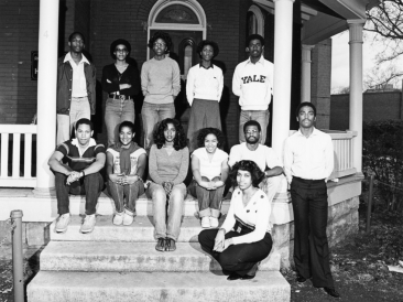 Students at the Black Cultural Center (Lost in the Ivy Archive)