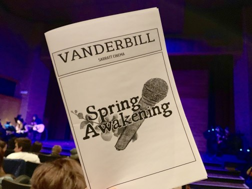 Attending Vanderbilt's production of Spring Awakening, from Social 'Dore @valerie_rk