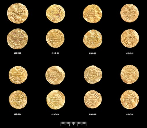 A rare hoard of gold coins minted by the Fatimid Caliphate around 1055