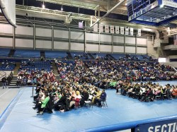 Vanderbilt students, faculty and staff attended the MLK Day Convocation at Tennessee State University's Gentry center. (Jalen Blue/Vanderbilt)