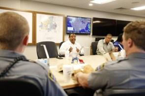 Vanderbilt Police & Community Service Officers working around campus. (Vanderbilt University / Photos by Steve Green)