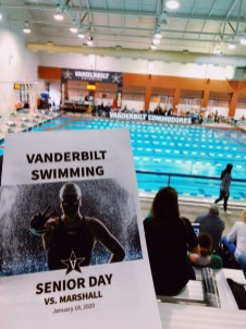 Cheering on Vandy's swim team, from @heyhannahelise