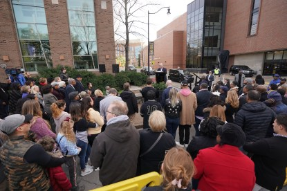 Perry Wallace Way dedication ceremony on Saturday, February 22.(John Russell/Vanderbilt)