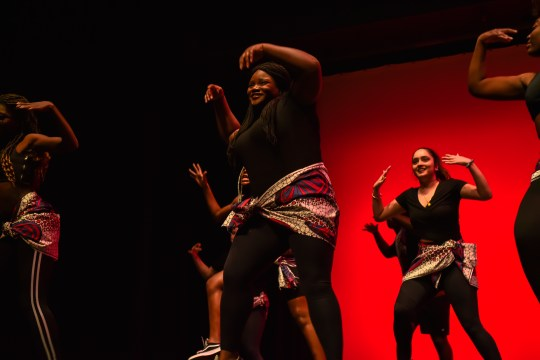 Afrobeat to Afrobeat at Harambee. A cultural showcase presented by the African Student Union. (Photograph by @jannygaophoto)