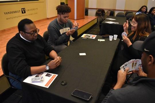 Spades 101 event at the Bishop Joseph Johnson Black Cultural Center. (Jalen Blue/Vanderbilt)