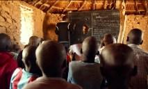 Students inside a Nuba school.