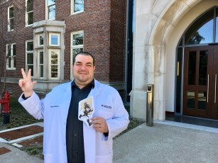 Massaro shows school spirit in his first months at VUSN. (Contributed photos)