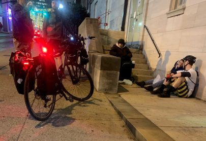 Barnes said taking time to listen to members of the homeless community is a key part of the bicycle ministry.