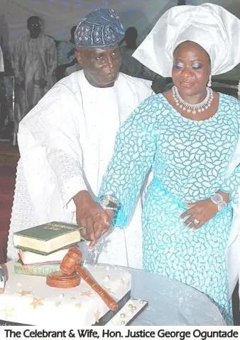 justice George Oguntade & wife