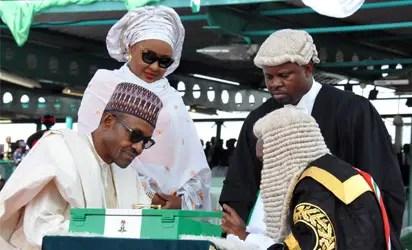 inauguration  buhari
