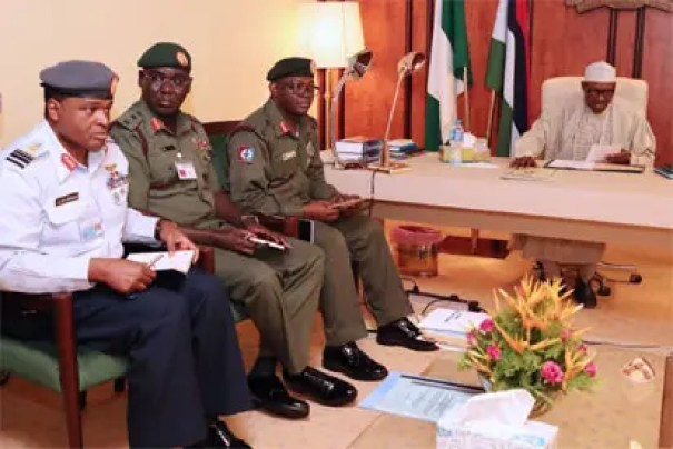 Image result for You must keep Nigeria one, Buhari orders security chiefs Photos