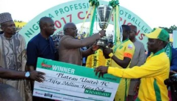 Image result for Plateau United crowned champions after 2-0 victory over Rangers