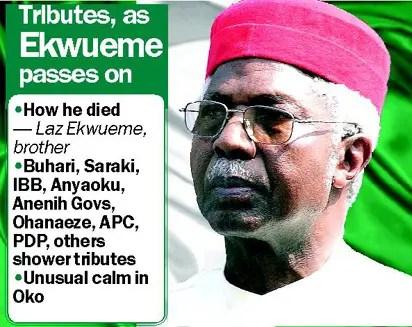 How Ekwueme died — Igwe Laz, brother - Vanguard News