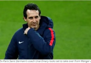 Ex-Paris Saint Germain's coach Unai Emery looks set to take over from Wenger at Arsenal