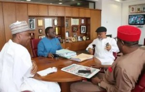 Breaking: Saraki, Adewole, Ngige in closed door meeting over JOHESU strike
