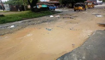 *Pothole turned gully in the heart of Calabar