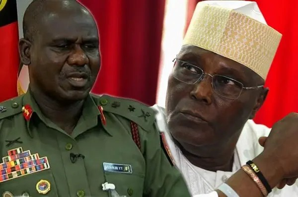 Image result for Atiku tells Buratai