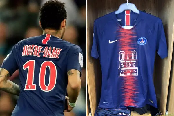 1502c72f42a PSG's Notre Dame shirts sell out in 30 minutes and the profit has ...