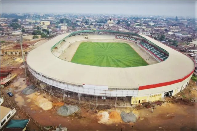 Ongoing reconstruction of Samuel Ogbemudia stadium, in Benin City, Edo State.