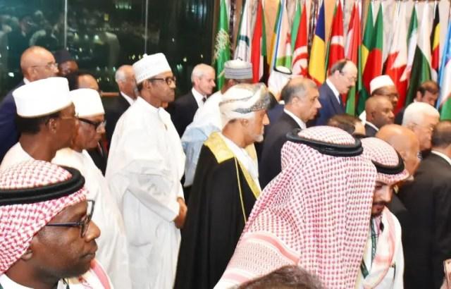 President Muhammadu Buhari at the 14Th Islamic Summit in Makkah Saudi Arabia