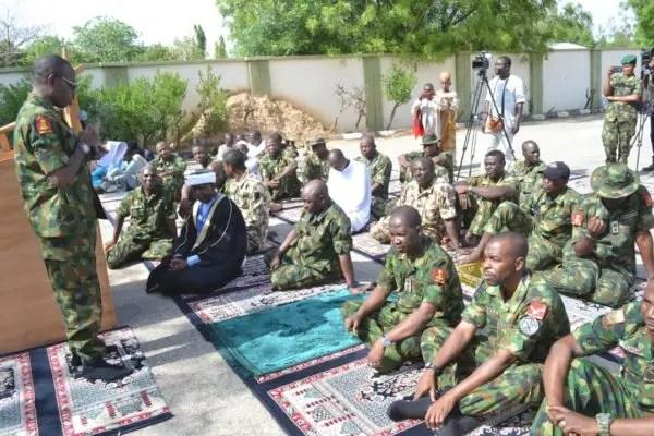EID-EL- FITR : Buratai visits 1 brigade Nigerian army