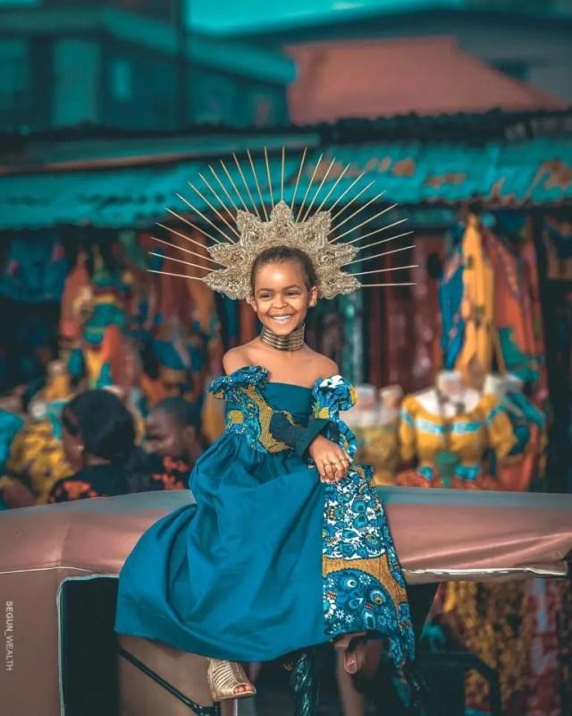 Model, June as photographed by Segun Adebayo