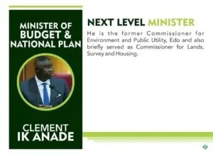 Minister, budget Anade