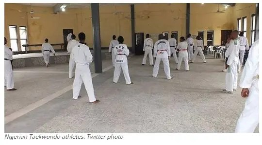 Nigerian Taekwondo athletes. Twitter photo