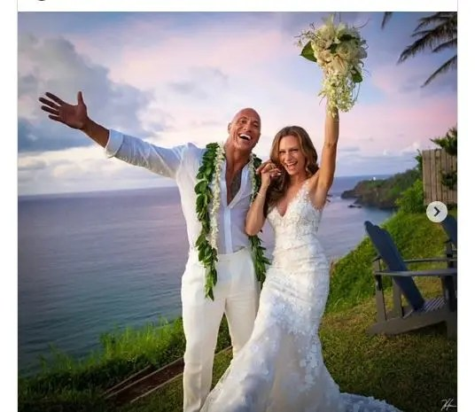 Dwayne Johnson 'The Rock' gets married