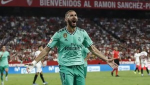 La Liga: Benzema header beats Sevilla to breathe life back into Real Madrid
