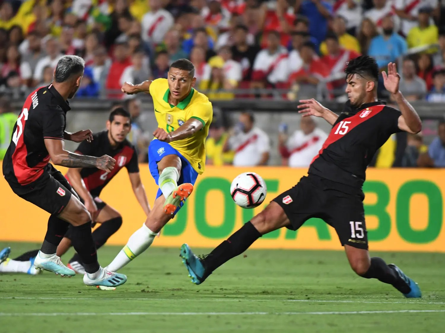 Abram strikes late as Peru down Brazil - Vanguard News