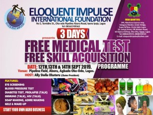 NGO conducts free medical test, skill acquisition