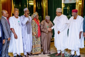 PHOTOS:President Buhari receives Annual Report of Police Service Commission in State House