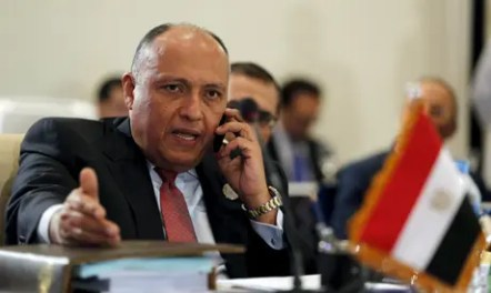 Egypt's foreign minister, Sameh Shoukry